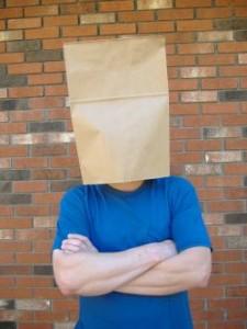 Wstyd - zakrycie głowy.