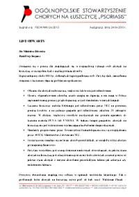 List Otwarty do MZ - Stowarzyszenie Psoriasis